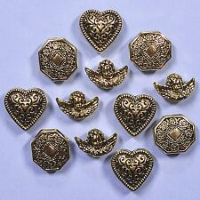 Buttons Galore Vintage Gold 4401 - Victorian Cherubs Dress it Up