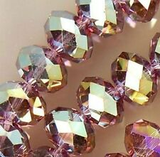 6X8mm Purple Multicolor Crystal Beads 70PCS