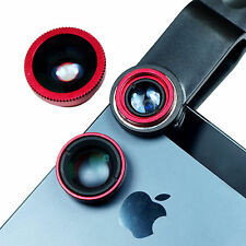 Universal Clip On Phone Lens - Fish Eye + Marco + Wide Angle Lens for iPhone HTC