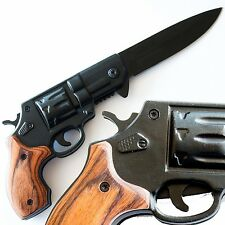 Best Brown Wood Pistol Knife for Gun Lovers - Under Control Tactical
