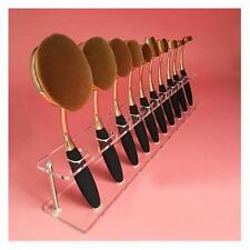 10pc Brush Storange Place Organizer Clear Acrylic 10 Lattices Cosmetic ShelfUK