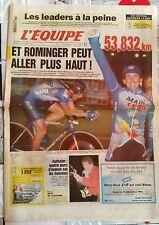 L'Equipe Journal du 24/10/1994; Tony Rominger/ Autissier 4 jours d'avance
