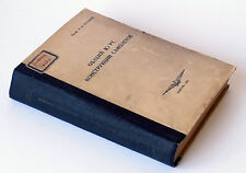 1941 Russia «AIRCRAFTS CONSTRUCTIONS General Course » Manual Book