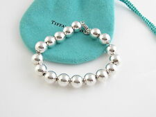 Tiffany & Co Silver 10 mm Ball Bead Bracelet Bangle Cuff Retails for $218!