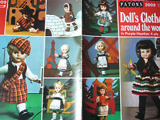 "VINTAGE PATONS KNITTING PATTERN BOOK 18"" DOLLS CLOTHES FROM AROUND THE WORLD"