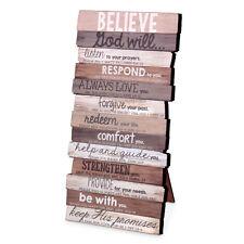 "Believe God Will Wall Desktop Plaque Scripture Christian Gift 5 x 10"""