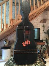 Antique 19th Century WOODEN CELLO CASE w/Brass Hardware ~ Vintage Rarity