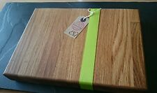 In rovere massello trinciatura / Serving Board 31cm x 19 cm bistecche o barbecue
