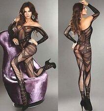 FD1843 Sexy Fishnet Open Crotch Body Stocking Bodysuit Women Nightwear Lingerie