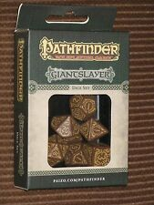 Pathfinder Giantslayer Dice Set NEW Q-Workshop Paizo adventure path D&D rpg