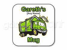 Regalo Personalizzato Camion della spazzatura Coaster lo spazzino Raccolta Rifiuti Bin Uomini presenti