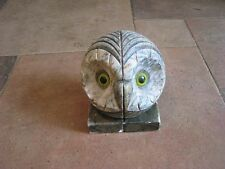Vintage Alibaster Owl Bookends Made in Italy