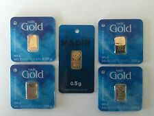 Nadir Full Fractional Set! 24k Gold .025, .05, 0.1, 0.25, 0.5 GRAM Lowest Price!