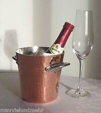 Mauviel M'30 Kupfer Eiskübel für kleine Flaschen, Edelstahlgriffe  2709.05