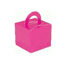 10 FAVOUR BALLOON WEIGHT BOXES - Pink, Black, Silver, Gold, Lilac, ivory etc