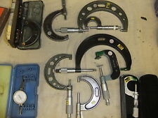 Micrometers assorted sizes some unused since calibration x 10 STARETT MITUTOYO