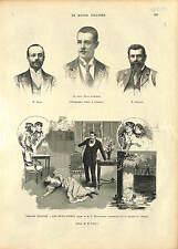 PRINCE Henri Philippe Marie d'Orléans Émile Roux Georges Briffaut GRAVURE 1896