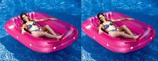 "2) Swimline 9052 71"" Swimming Pool Inflatable Suntan Tub Float Lounge Chairs FUN"