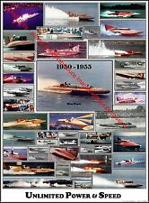 Color Hydroplane Poster - Early 50s - Miss Pepsi, 40+ unlimiteds