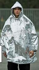 ARMY STYLE OUTDOOR SURVIVAL FOIL BLANKET PONCHO by MILTEC