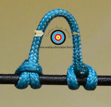 2 Pack Teal Archery Release Bow String Nock D Loop Bowstring BCY #24