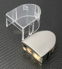 SILVER FINISH CAR BATTERY TERMINAL NEGATIVE NEG WITH WATER RESISTANT COVER