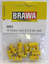 Yellow Plugs for MARKLIN - OLD STYLE 2,5 mm - 10 pcs. - Brawa 3051 - NEW