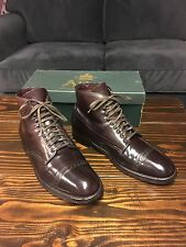 $718 Alden For J. Crew Perforated Cap Toe Shell Cordovan Boots Color 8 10 D