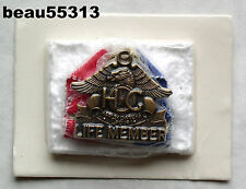 """DISCONTINUED"" 4 TALON HARLEY DAVIDSON HOG LIFE MEMBER CHAPTER RIBBON PIN"
