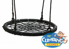 Kids Basket Crows Nest swing Seat Set BLACK BARGAIN! 60cm Climbing Frame Tree