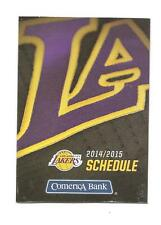 Los Angeles Lakers NBA Mini Pocket Schedule 2014-2015