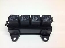 RELAY BOX for 4 Automotive relays  + 4 x 12V 40/30amp 5pin change over Relays
