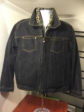 women's BYER GIRL denim jacket detachable faux fur vest liner size L (16.5)