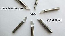 1 VHM Einstechmeißel Ø 3,175/0,8 Drehmeißel Drehling CNC cutting lathe WSP tool