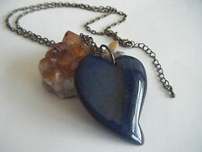 Game of Thrones KHALEESI Dragon Vein Agate Heart Pendant Necklace Targaryen