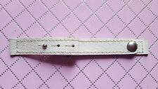 BRACELET MONTRE CUIR DE BUFFLE BLANC  12mm /* REF.D62