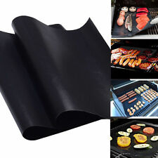2X Reuseable BBQ Liner Non-Stick Barbecue Cooking Grill Baking Mat Sheet 40X33cm