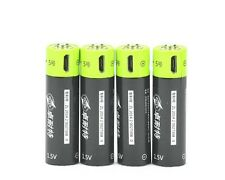 ZNTER 4pcs 1.5V AA 1250mAh Rechargeable Lithium Battery Micro USB Charging Cable