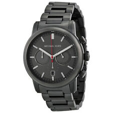 BRAND NEW MENS MICHAEL KORS (MK8371) BLACK PENNANT CHRONOGRAPH WATCH SALE!