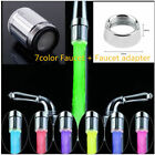 LED Water Faucet Stream Light Changing Glow Shower Stream Tap + Faucet LO
