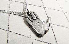 Live Long and Prosper Necklace, Hand Gesture, inspired by Spock Star Trek