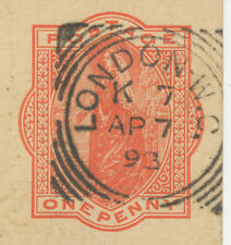 """2455 """"LONDON-W.C.""""  with code """"K 7"""" Squared Circle Postmark (Cohen Typ I A-K SC)"""