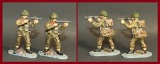 King & Country Arnhem '44 Lof of *2* Advancing Para w/Machine Gun **WB-5049**