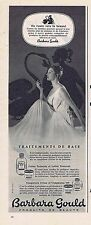 PUBLICITE ADVERTISING 025 1955 BARBARA GOULD maquillage
