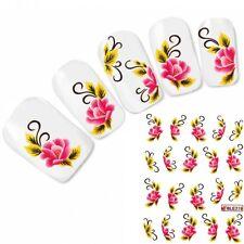 Nagel Sticker Rose Tattoo Nail Art Blume Aufkleber Flower Neu!