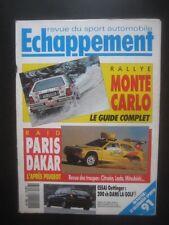 ECHAPPEMENT n° 267 - RALLYE MONTE-CARLO - RAID PARIS-DAKAR 1991 - VW GOLF G60
