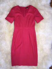 Womens Jcrew Magenta Pink Super 120s Classic Formal Office Dress Sz 2.