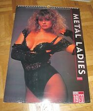 METAL LADIES calendar 1991 Doro Pesch (Warlock) Lita Ford FemmeFatale Girlschool