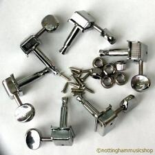 6 vintage style stamped steel guitar machine heads tuners string winders new