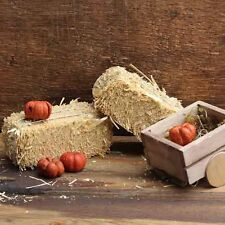 Miniature Fairy Garden Hay Bales 3 pcs/ Dollhouse Gnome  1078